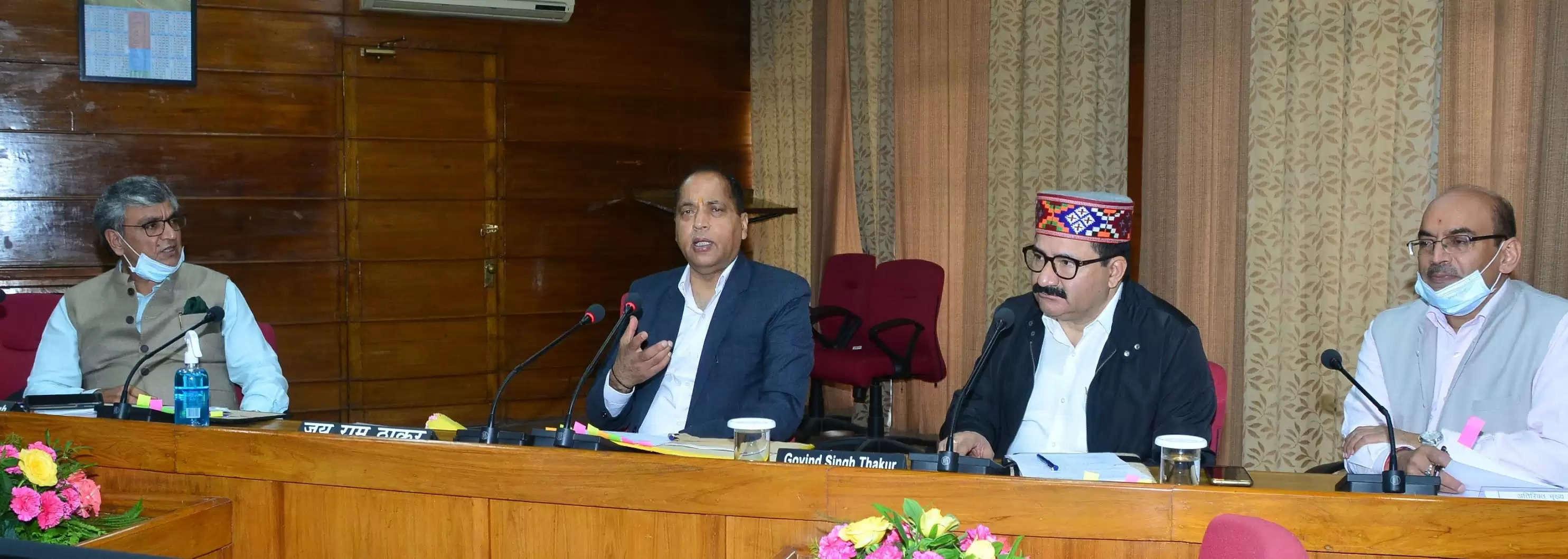 मुख्यमंत्री जयराम ठाकुर की अध्यक्षता में विभिन्न विषयों पर चर्चा के लिए कुल्लू दशहरा समिति की बैठक सोमवार को हुई।